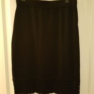 St. John Black Skirt